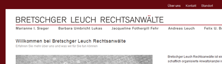 Screenshot der Website www.breleu.ch